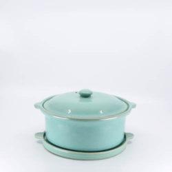 Pacific Pottery Hostessware 202-203 Casserole Trivet Green