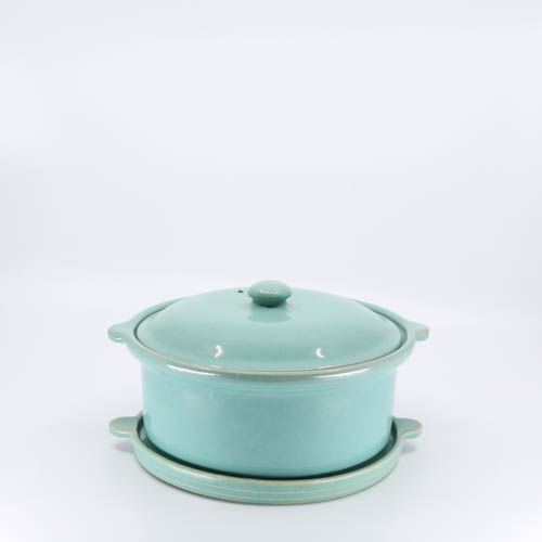 Pacific Pottery Hostessware 202-203 Casserole Trivet Green