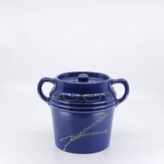 Pacific Hostessware 235 Beanpot Pacific Blue Decorated (Wheat)