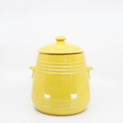 Pacific Pottery Hostessware 305 Pretzel Jar Yellow