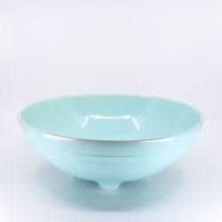 Pacific Pottery Hostessware 314 Serving Bowl Aqua
