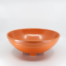 Pacific Pottery Hostessware 314 Serving Bowl Red
