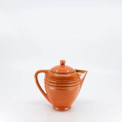 Pacific Pottery Hostessware 443 Ind Demi Pot Red