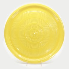 Pacific Pottery Hostessware 451 Target Platter Yellow