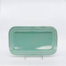 Pacific Pottery Hostessware 659 Rect Tray Small Green