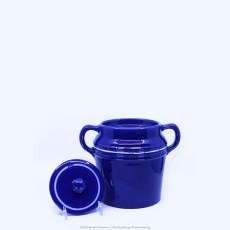 Pacific Pottery Hostessware Decorated 2007 235 Beanpot Pacblue