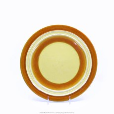 Pacific Pottery Hostessware Decorated 2007 611 Luncheon Plate Yellow