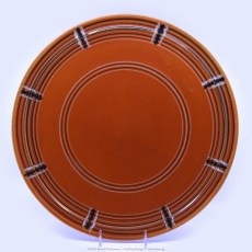 Pacific Pottery Hostessware Decorated BF 619 Cake Plate Red