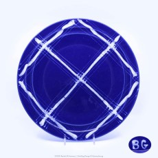 Pacific Pottery Hostessware Decorated BG 613 Dinner Plate Pacblue