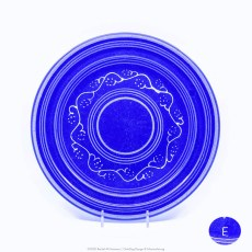 Pacific Pottery Hostessware Decorated E 613 Dinner Plate Pacblue
