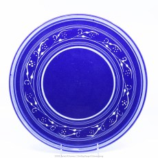 Pacific Pottery Hostessware Decorated G 619 Cake Plate Pacblue