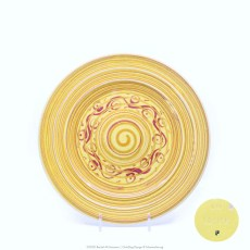 Pacific Pottery Hostessware Decorated P 611 Luncheon Plate Yellow