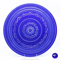 Pacific Pottery Hostessware Decorated P 612 Chop Plate Pacblue