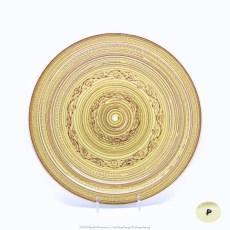 Pacific Pottery Hostessware Decorated P 625 Tidbit Yellow