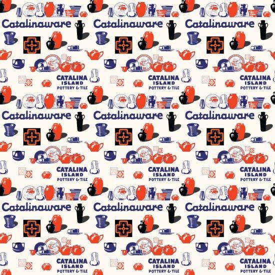 Qwkdog Catalina Pottery Logo Pattern