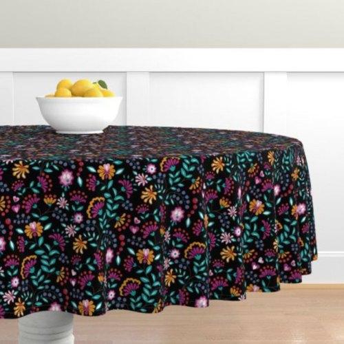 QwkDog Merida Flower Design Tablecloth 02