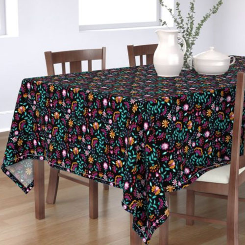QwkDog Merida Flower Design Tablecloth 01