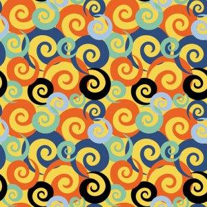 QwkDog Fish Tile Contrast Pattern