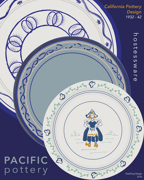 QwkDog Pacific Pottery Decorated Print 03