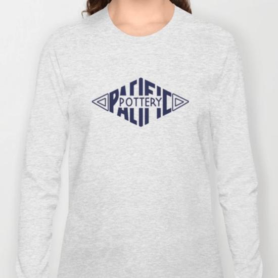 QwkDog Pacific Pottery Logo Design T-Shirt