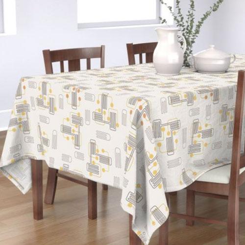 QwkDog Red Wing Crazy Rhythm Pattern Tablecloth 01
