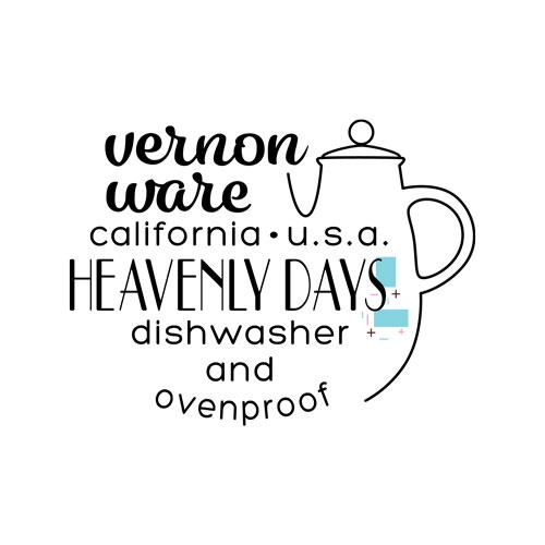 QwkDog Vernon Kilns Heavenly Days Logo Design