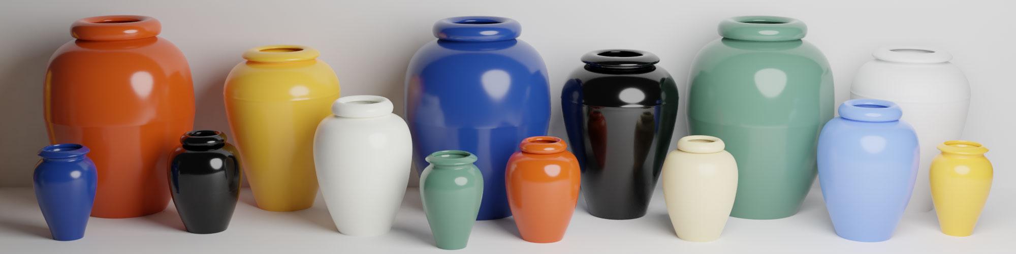Bauer Pottery Oil Jars