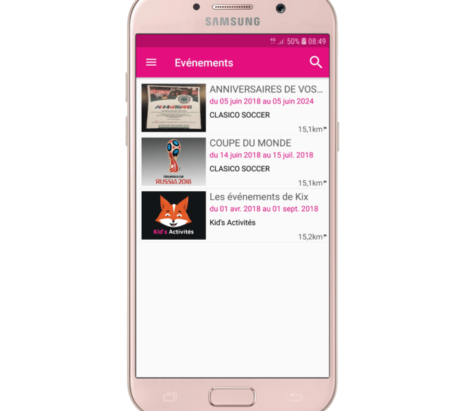 list-evenements-android
