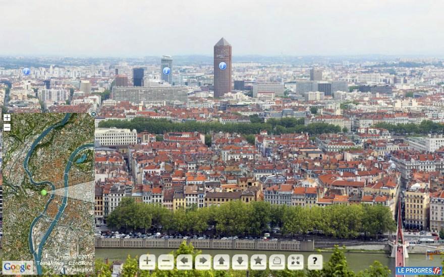 capture écran du panoramique HD de Lyon