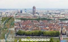 capture d'écran du panoramique HD de Lyon