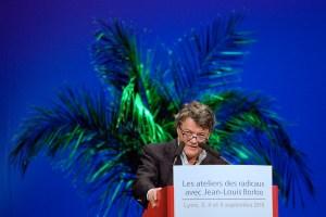 """Lyon, le 4/09/10 - Jean-Louis Borloo, ministre de l'écologie et président du Parti Radical, prononce le discours de clôture des """"ateliers des radicaux"""". © Maxime Jegat"""