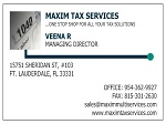 TAX PREPARATION BUSINESS CARDS WITH SMALL 1040 LOGO
