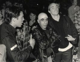 Tim and Martin as skinheads, at Gilman (photo by Murray Bowles)