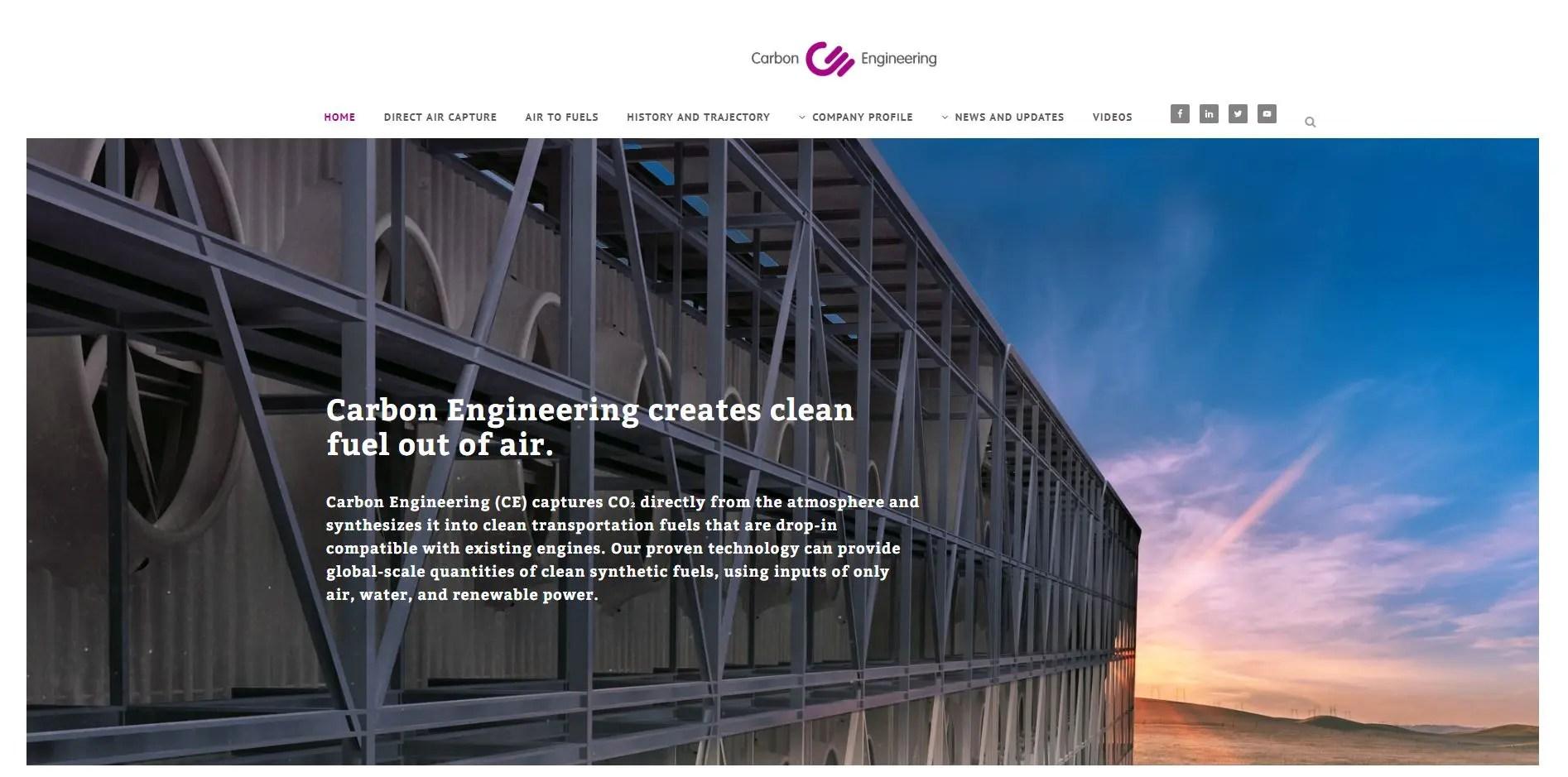 Carbon Engineering website