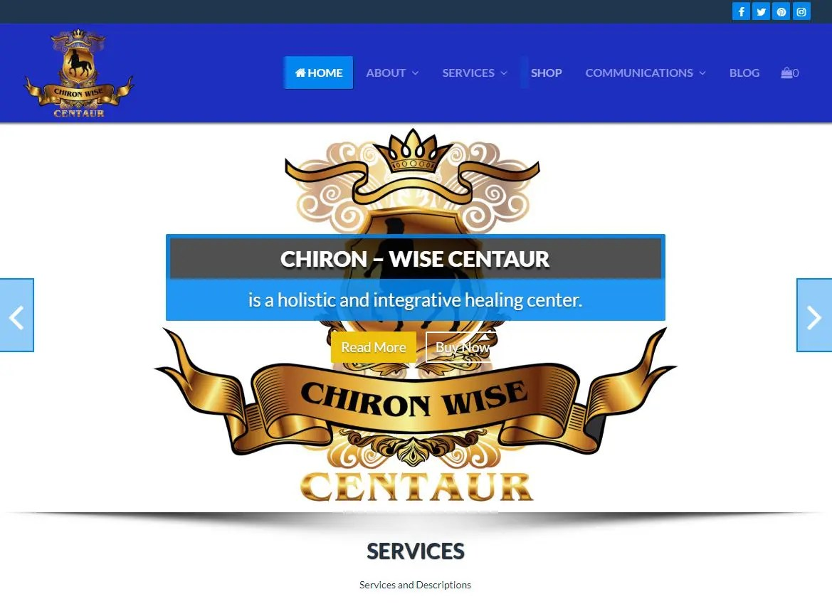 Chiron - Wise Centaur website