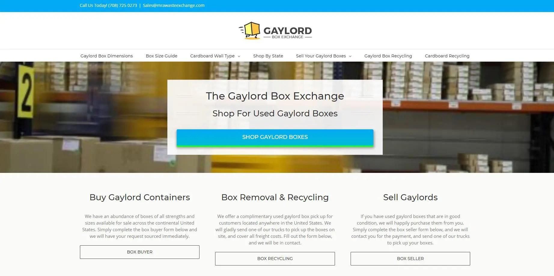 Gaylord box exchange website