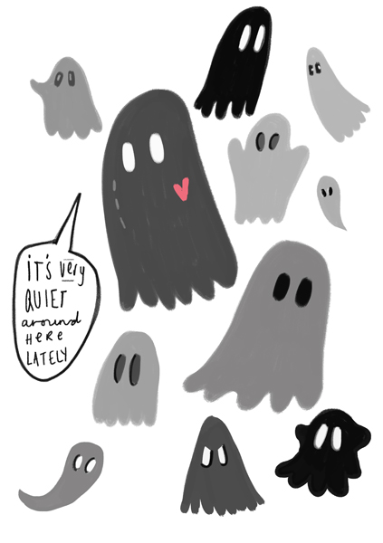 ghosts in a post about grammar at maxinelee.com