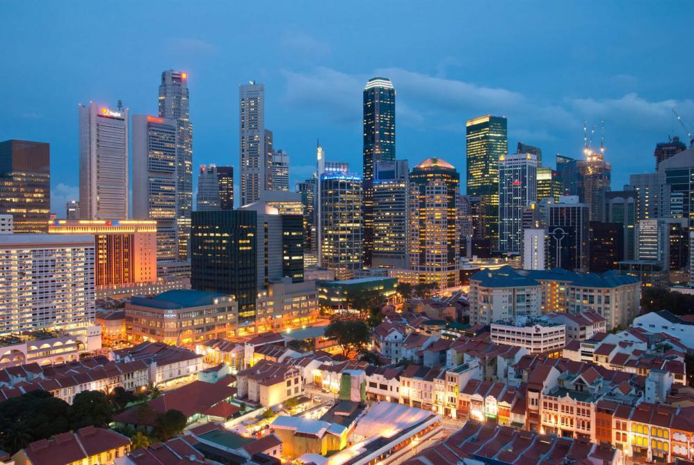 view of singapore city
