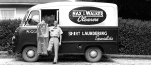 Max I. Walker dry cleaning and laundering delivery truck