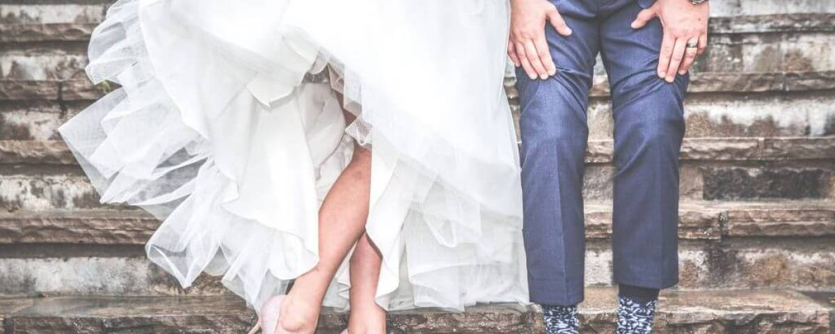 dry cleaning and laundering wedding gown and suit