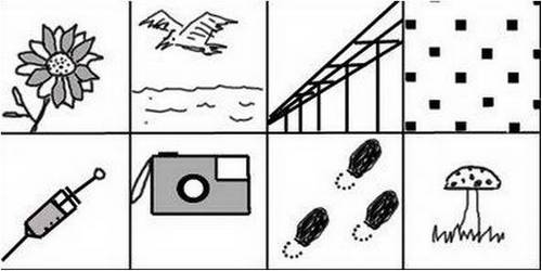 Contoh Gambar tes Wartegg