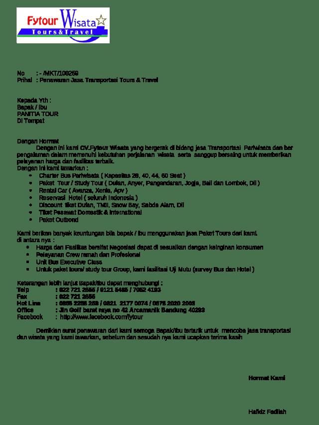 Contoh Dokumen Penawaran