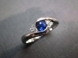 Batu Cincin Blue Garnet