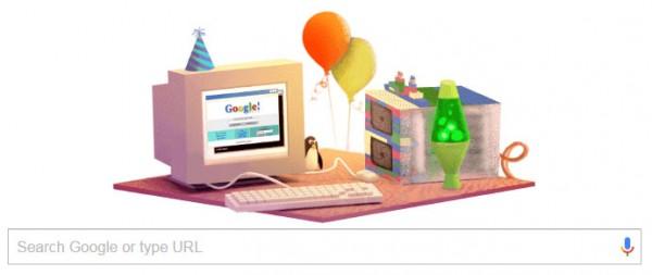 hari ulang tahun Google