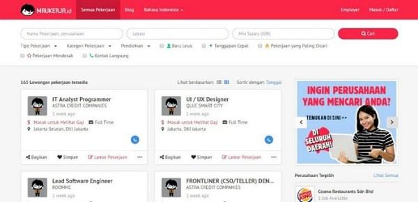 Portal lowongan kerja terbaik