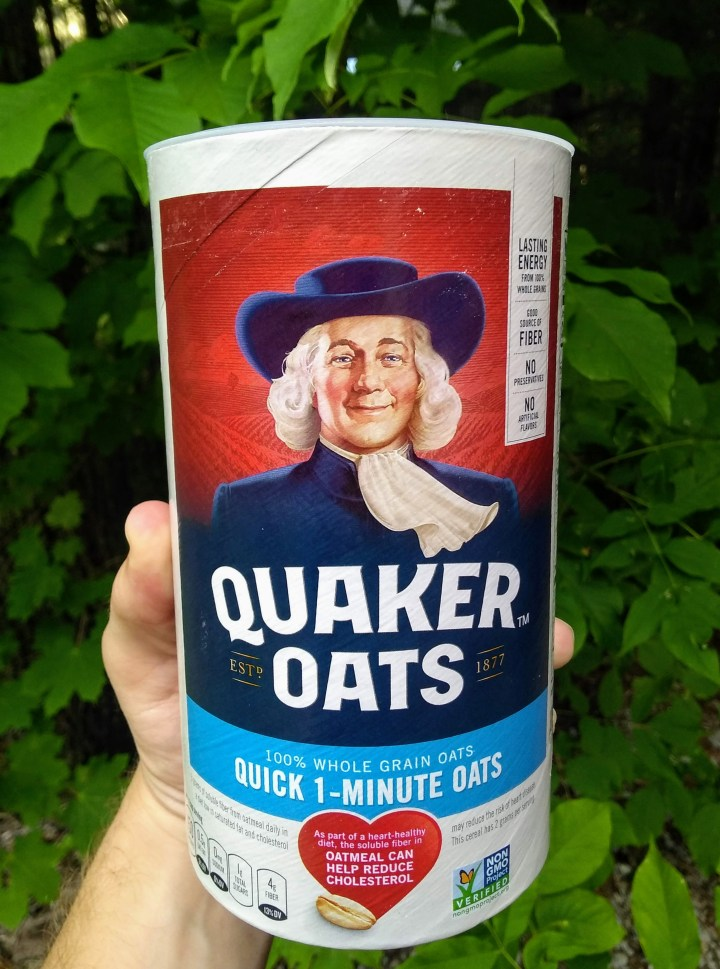 Package of oatmeal.