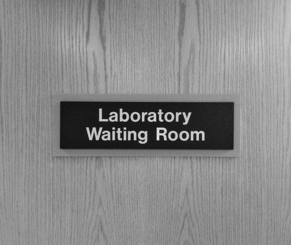 A lab waiting room where we might have our blood drawn for a comprehensive metabolic panel (80053).