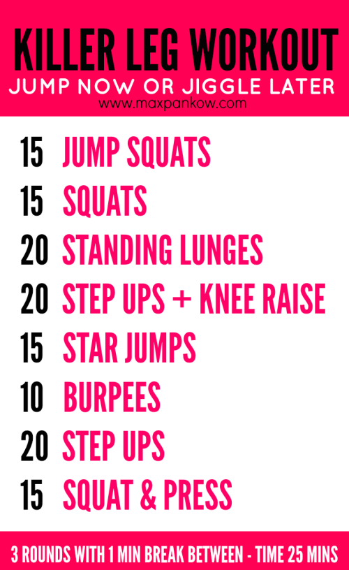 Killer Leg Workout Jump Now or Jiggle Later