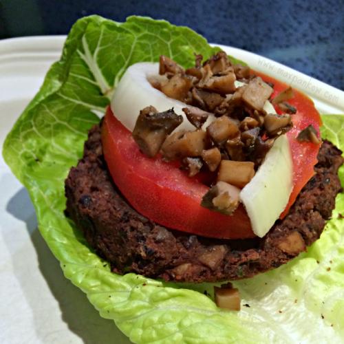 Black Bean Mushroom Burger Thumbnail 3