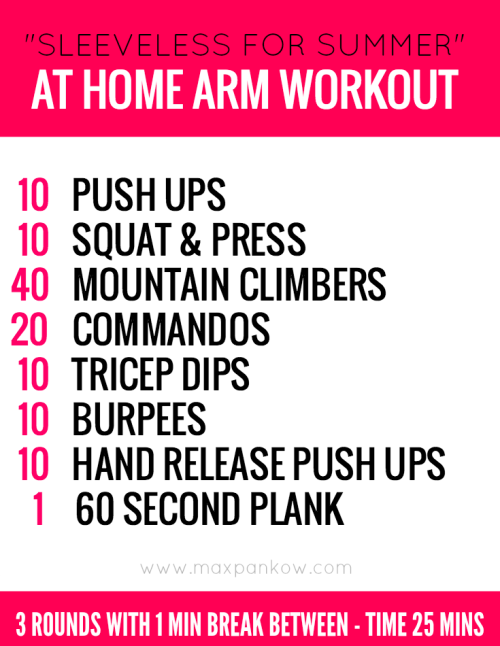 Sleeveless for summer at home arm workout pinterest